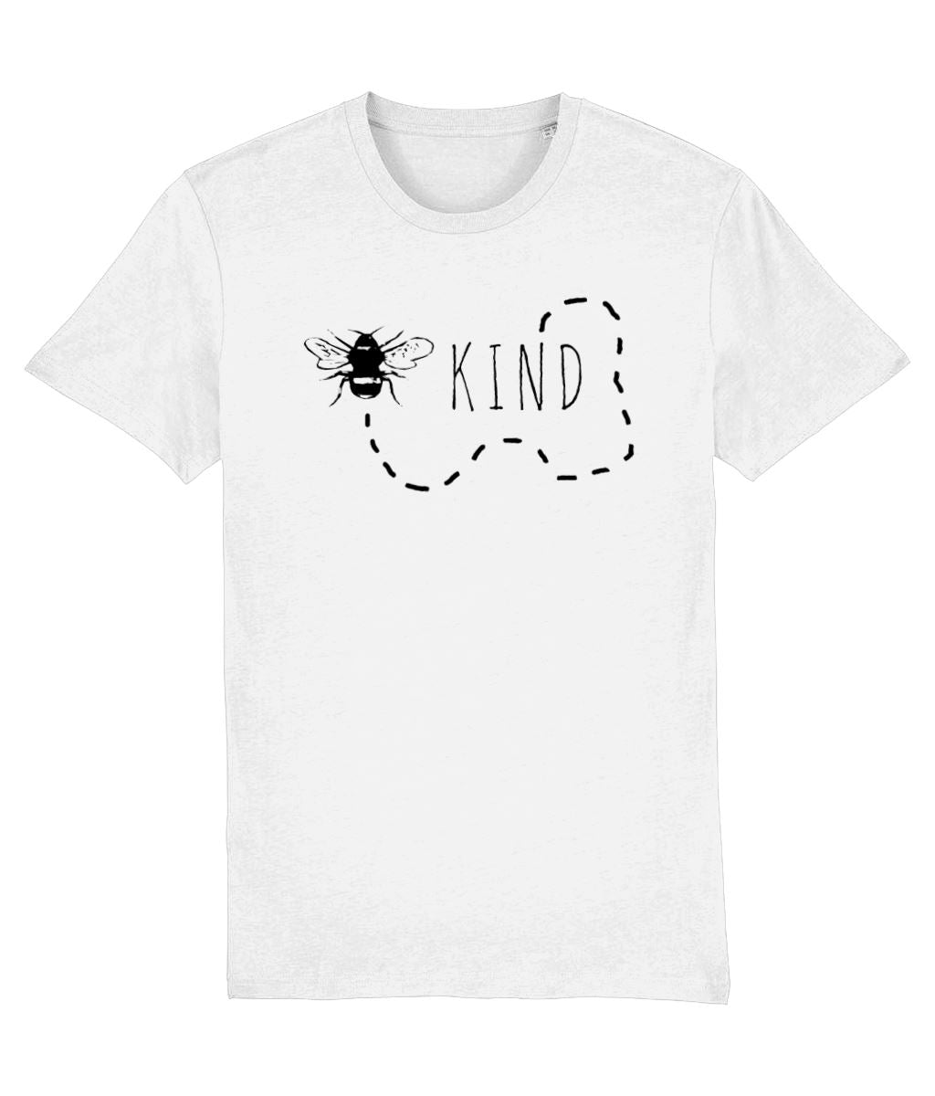 """Bee Kind"" Vegan T-Shirt - 100% Organic Cotton (Unisex) Clothing Vegan Original White XX-Small"