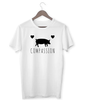"""Compassion"" Vegan T-Shirt - 100% Organic Cotton (Unisex) Clothing Vegan Original"