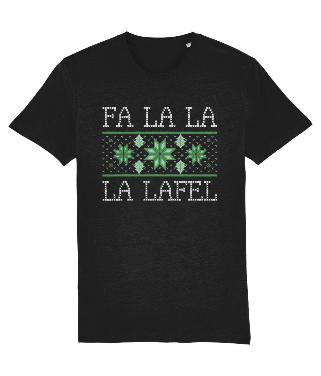 """Fa La La La Lafel"" Vegan Christmas Jumper - Black"