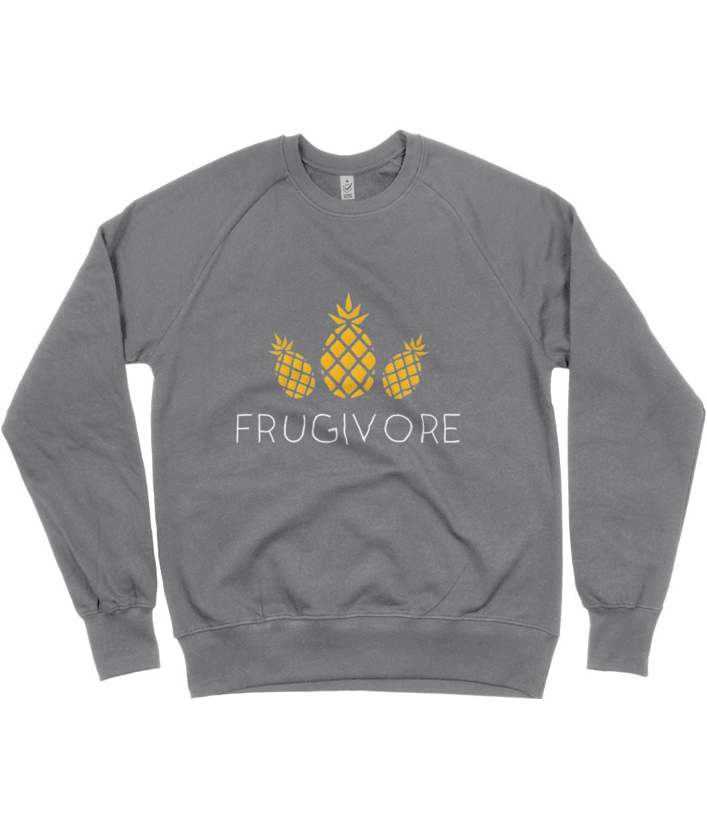 """Frugivore"" Vegan Sweatshirt - 100% Organic Cotton (Unisex) Clothing Vegan Original Dark Heather Small"