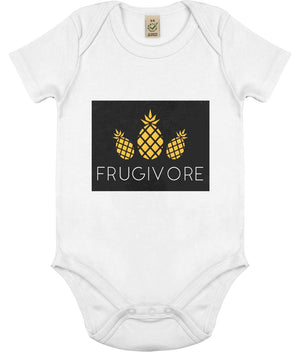 """Frugivore"" Vegan Babygrow Clothing Vegan Original White 0-3 months"