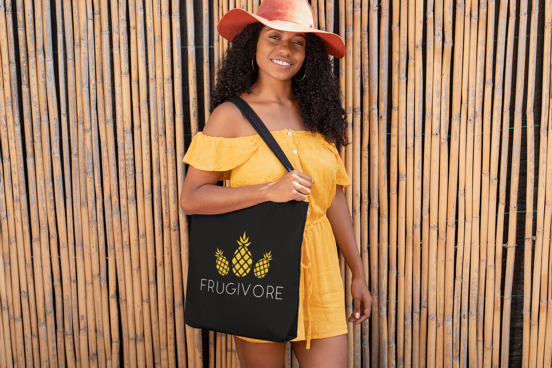 """Frugivore"" Vegan Tote Bag Clothing Vegan Original"