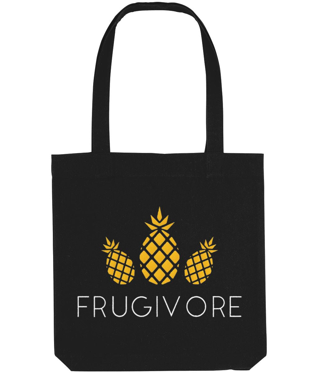 """Frugivore"" Vegan Tote Bag Clothing Vegan Original Black"