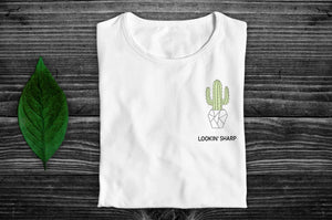 """Lookin' Sharp"" Vegan T-Shirt - 100% Organic Cotton (Unisex) Clothing Vegan Original"