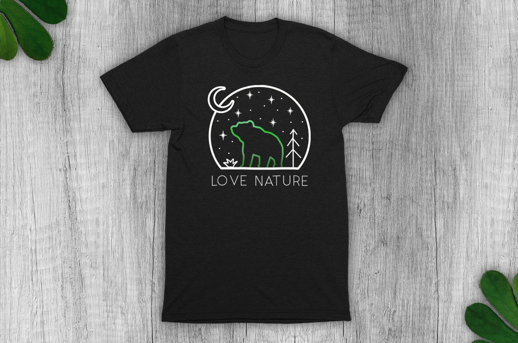 """Love Nature"" Vegan T-Shirt - 100% Organic Cotton (Unisex) Clothing Vegan Original"