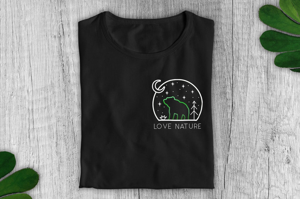 """Love Nature"" Vegan T-Shirt - 100% Organic Cotton (Unisex) - Smart Clothing Vegan Original"