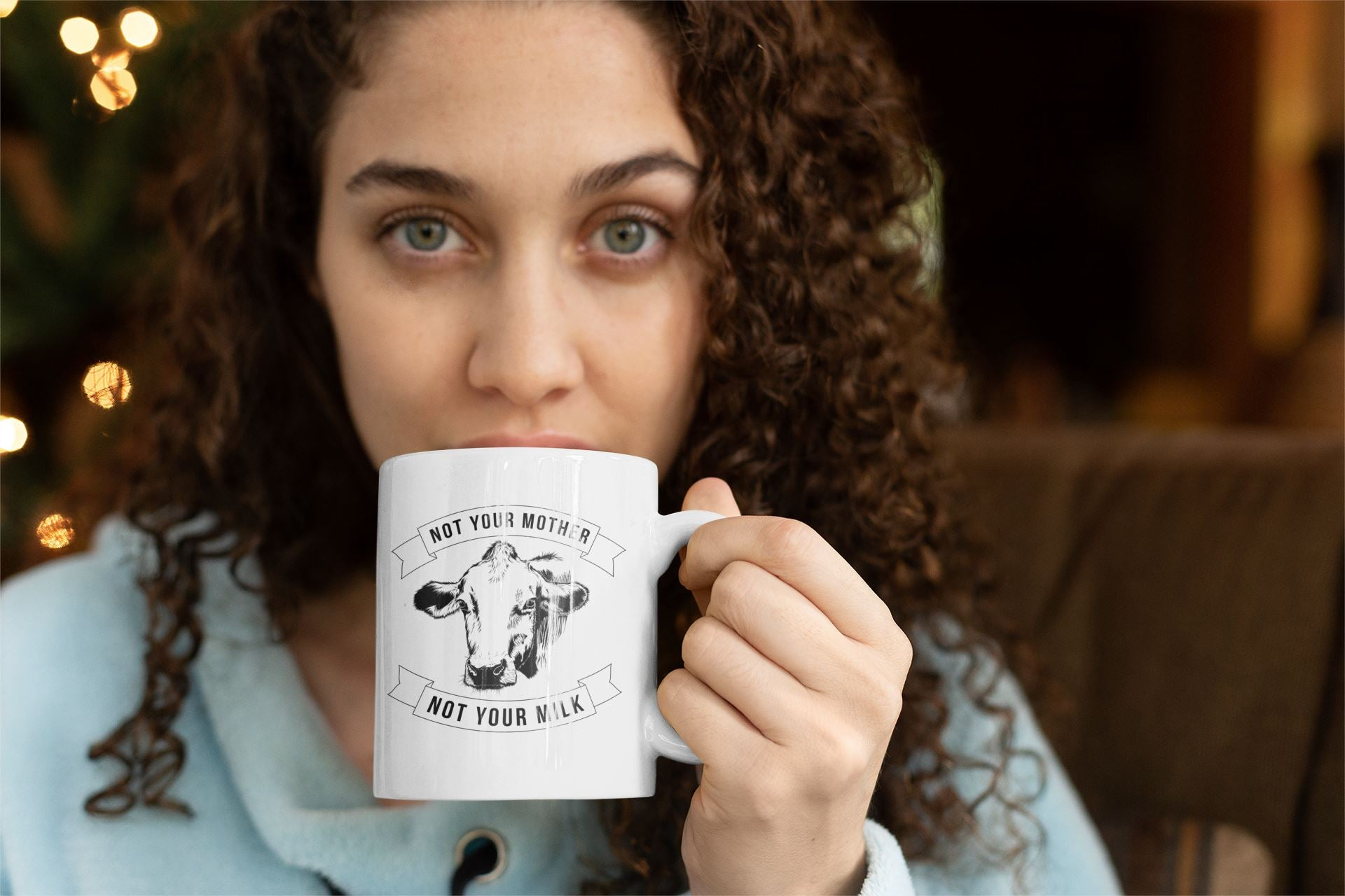 """Not Your Mother, Not Your Milk"" 11oz Vegan Mug Suggested Products Vegan Original"