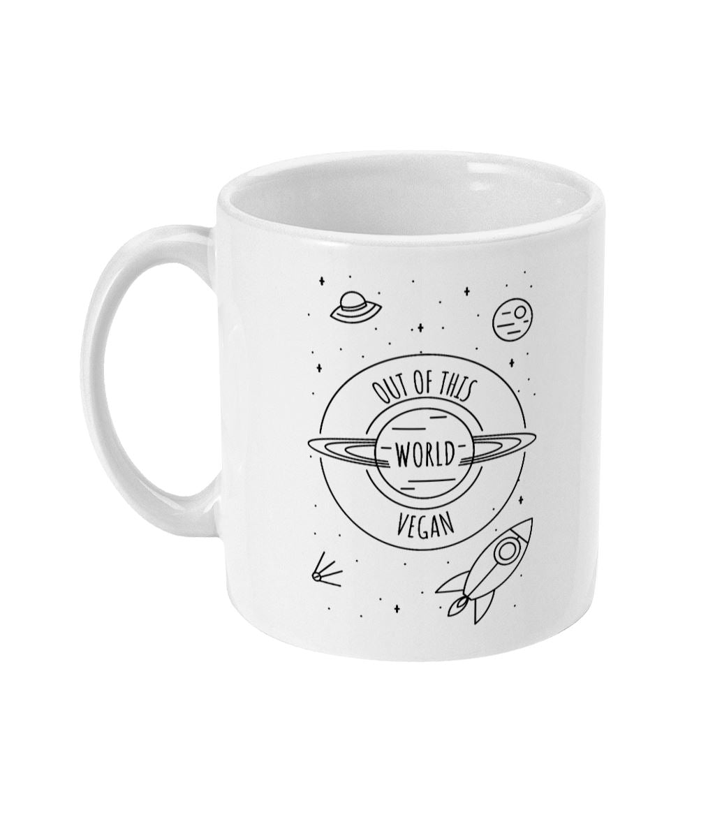 """Out Of This World Vegan"" Mug Suggested Products Vegan Original Ceramic White"
