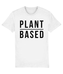 """Plant Based"" Vegan T-Shirt - 100% Organic Cotton (Unisex) Clothing Vegan Original White XX-Small"