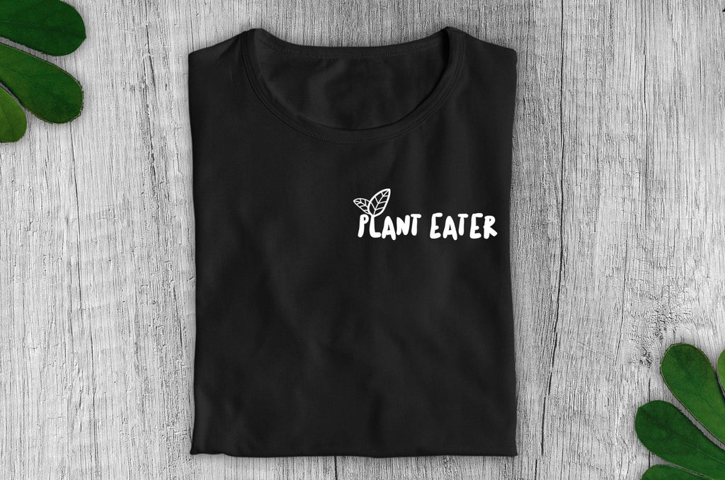 """Plant Eater"" Vegan T-Shirt - 100% Organic Cotton - Dark (Unisex) Clothing Vegan Original"