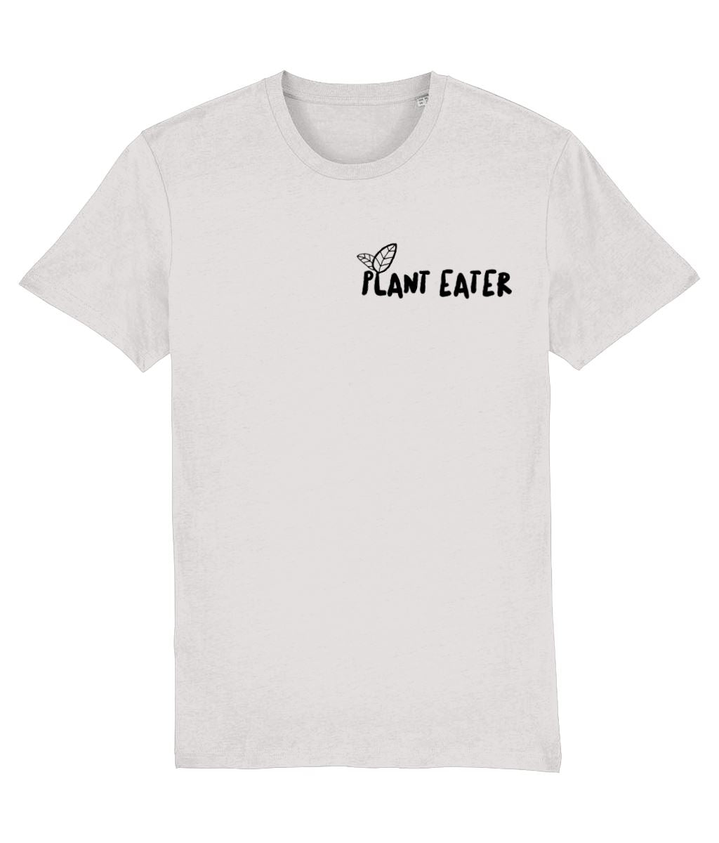 """Plant Eater"" Vegan T-Shirt - 100% Organic Cotton (Unisex) Clothing Vegan Original Cream Heather Grey XX-Small"