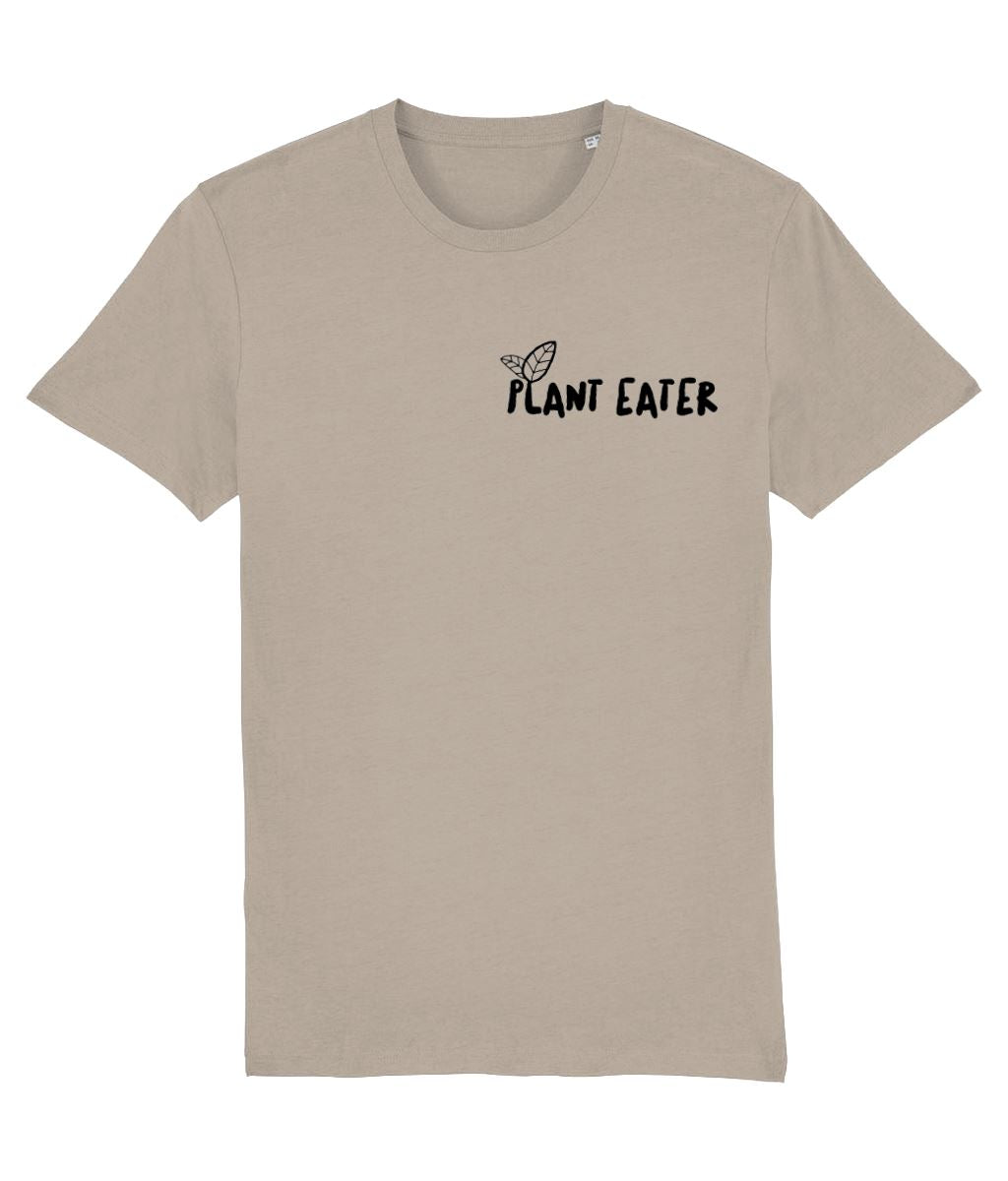 """Plant Eater"" Vegan T-Shirt - 100% Organic Cotton (Unisex) Clothing Vegan Original Desert Dust X-Small"