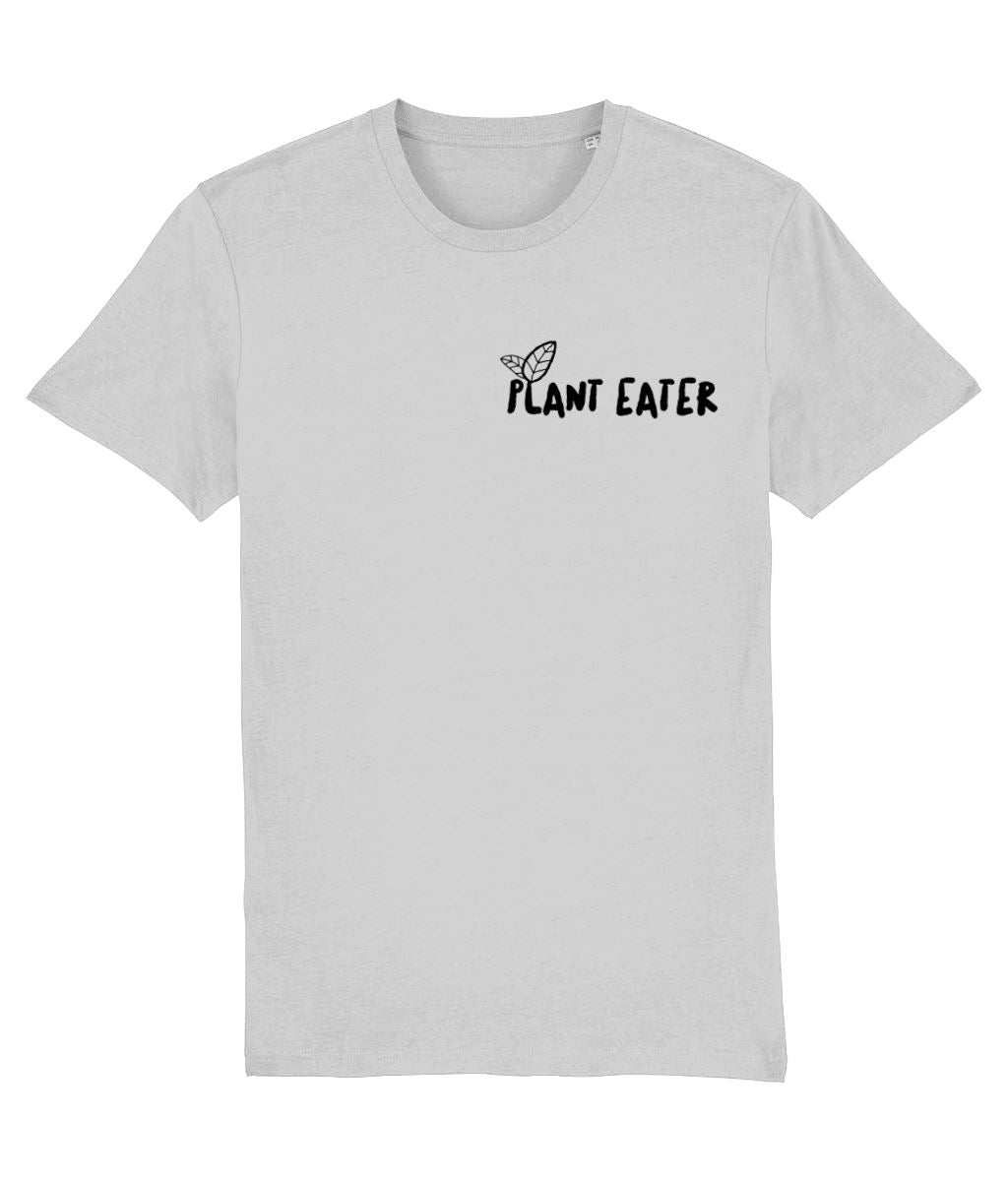 """Plant Eater"" Vegan T-Shirt - 100% Organic Cotton (Unisex) Clothing Vegan Original Heather Grey XX-Small"