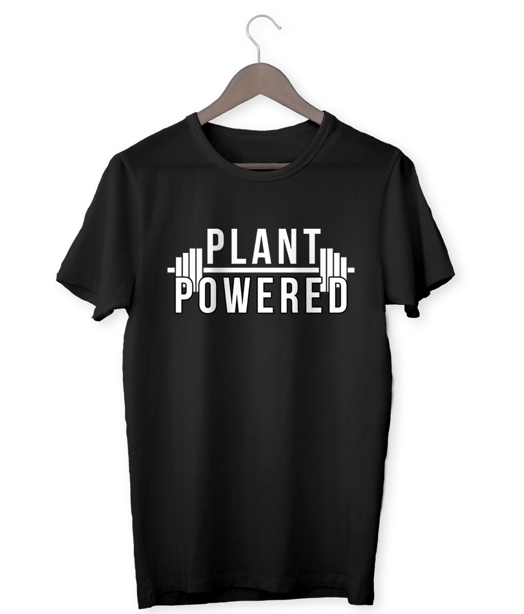 """Plant-Powered"" Vegan T-Shirt - 100% Organic Cotton (Unisex) Clothing Vegan Original"
