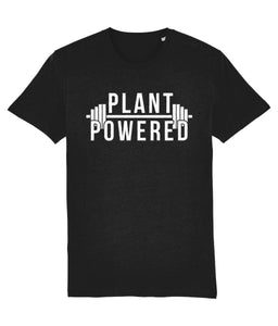 """Plant-Powered"" Vegan T-Shirt - 100% Organic Cotton (Unisex) Clothing Vegan Original Black XX-Small"