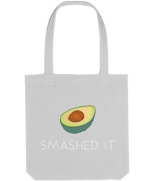 """Smashed It"" Avocado Vegan Tote Bag Clothing Vegan Original Heather Grey"