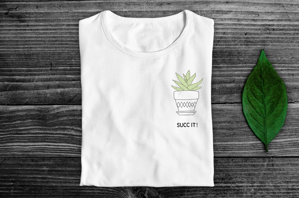 """Succ It!"" Vegan T-Shirt - 100% Organic Cotton (Unisex) Clothing Vegan Original"