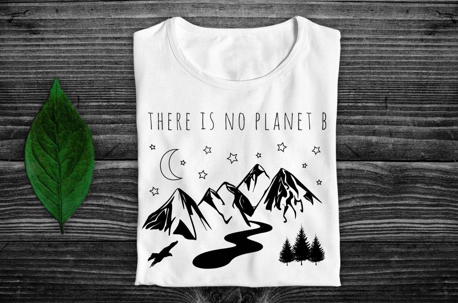 """There Is No Planet B"" Vegan T-Shirt - 100% Organic Cotton (Unisex) Clothing Vegan Original"