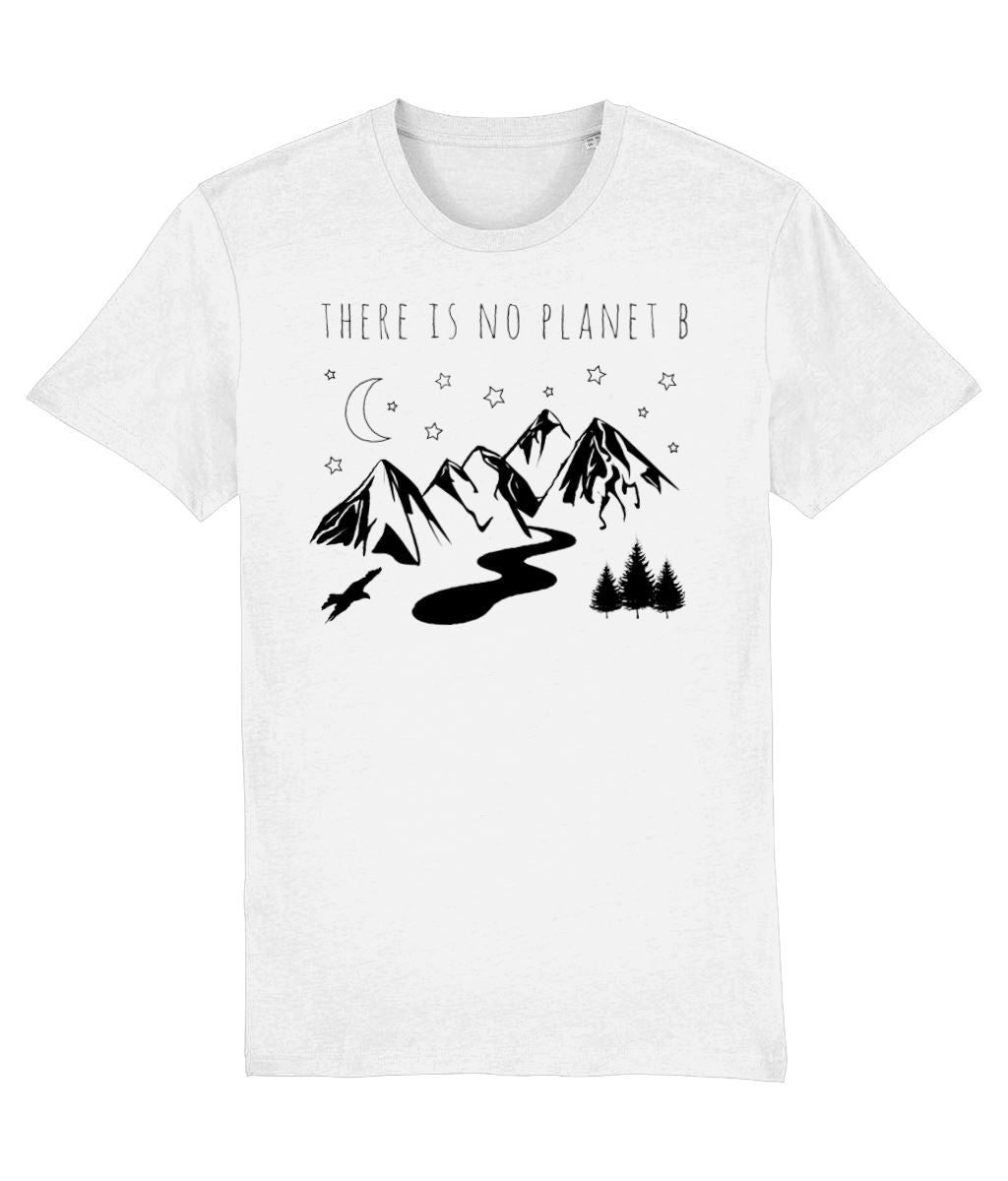 """There Is No Planet B"" Vegan T-Shirt - 100% Organic Cotton (Unisex) Clothing Vegan Original White XX-Small"