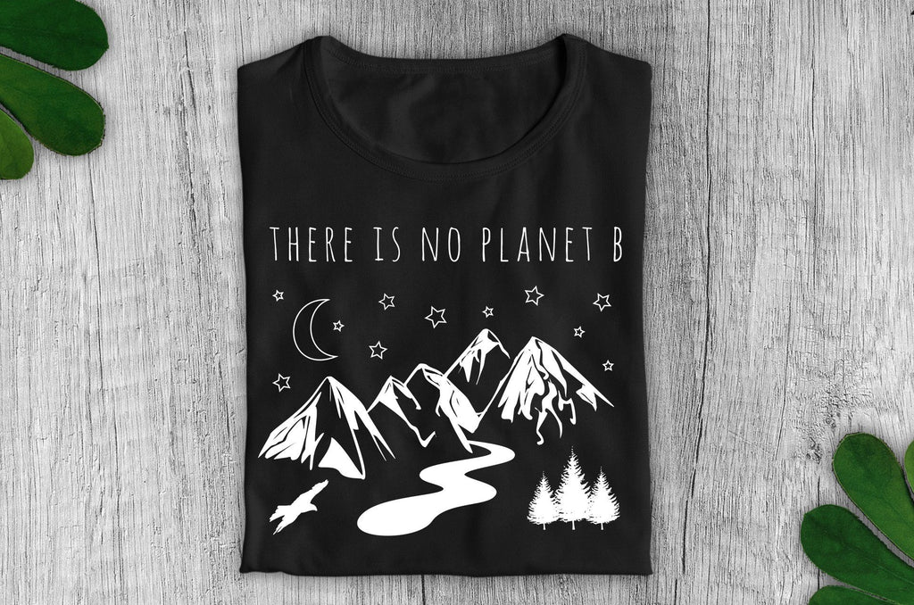 """There Is No Planet B"" Vegan T-Shirt - 100% Organic Cotton (Unisex) - Dark Clothing Vegan Original"