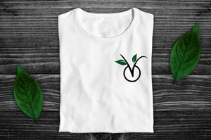 """V"" Vegan Light T-Shirt - 100% Organic Cotton (Unisex) Clothing Vegan Original"