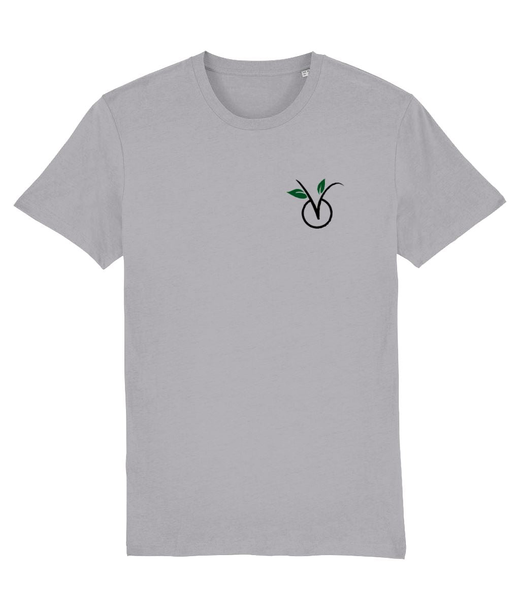 """V"" Vegan Light T-Shirt - 100% Organic Cotton (Unisex) Clothing Vegan Original Mid Heather Grey XX-Small"