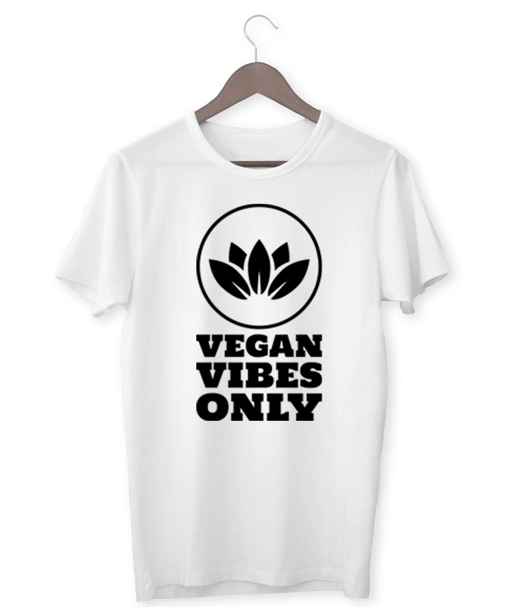 """Vegan Vibes Only"" Vegan T-Shirt - 100% Organic Cotton (Unisex) Clothing Vegan Original"