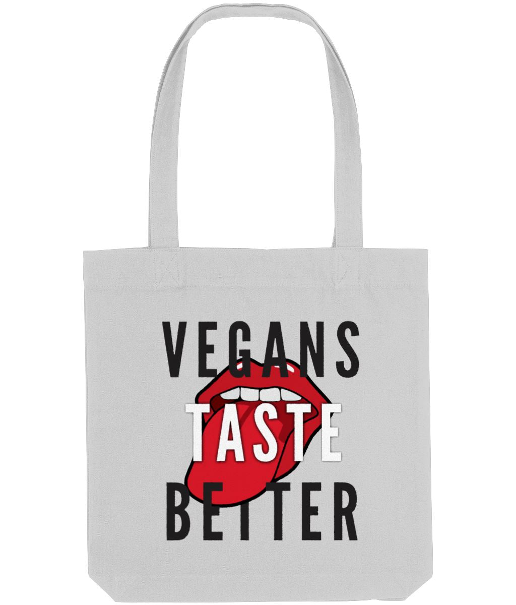 """Vegans Taste Better"" Vegan Tote Bag Clothing Vegan Original Heather Grey"