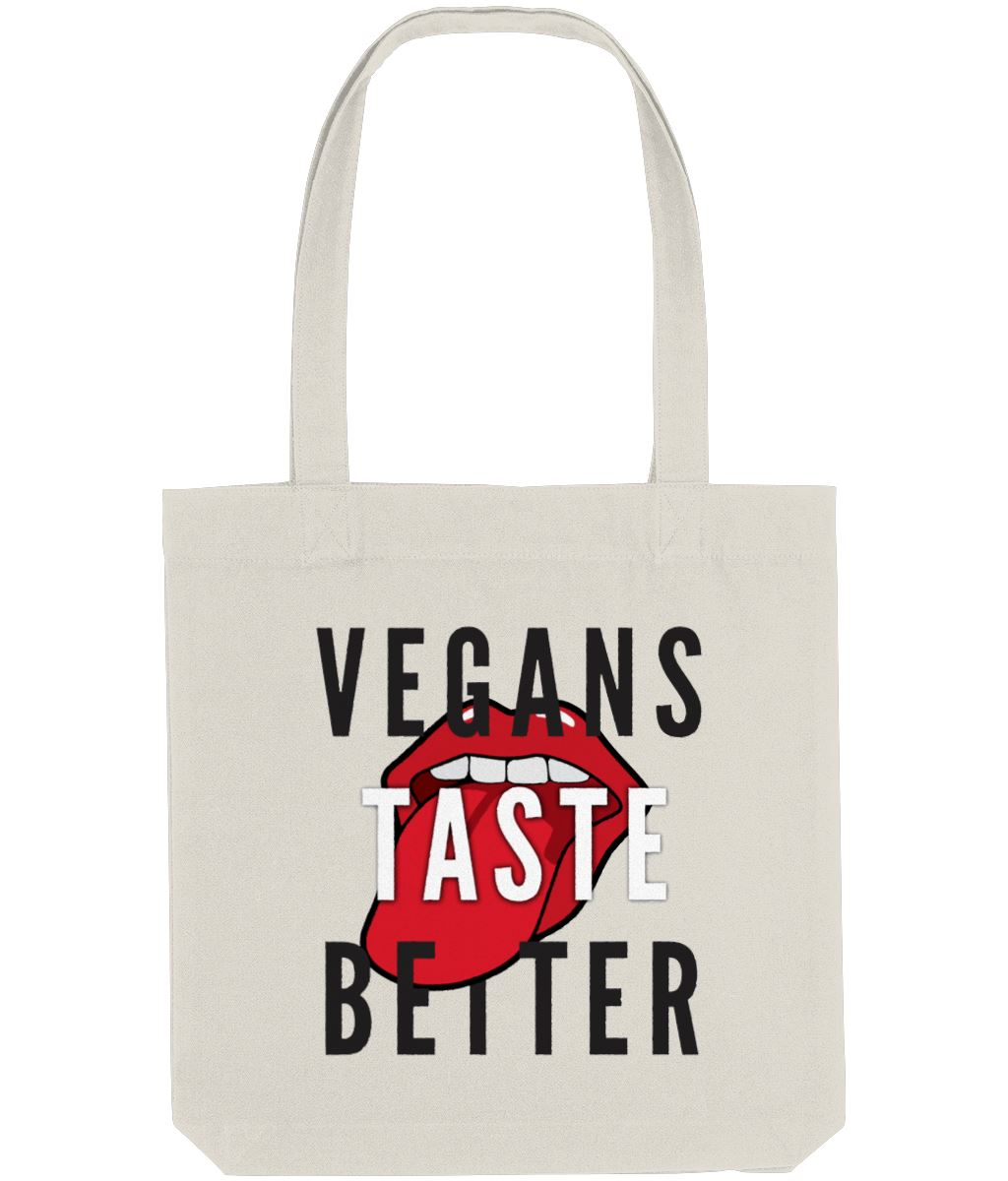 """Vegans Taste Better"" Vegan Tote Bag Clothing Vegan Original Natural"