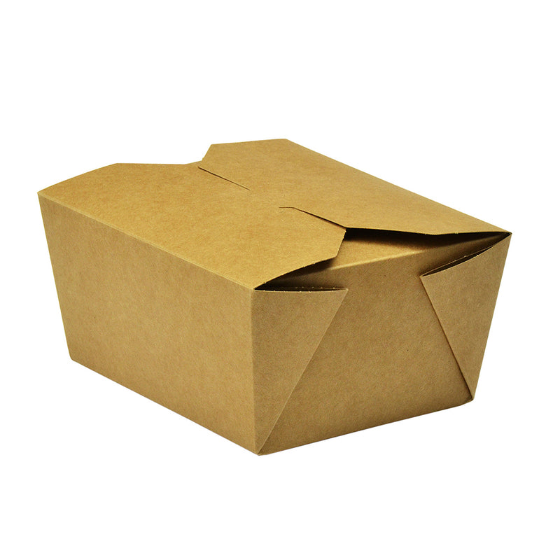 No.1 food carton 700ml (11 x 9 x 6.5cm) - kraft