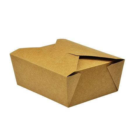 No.8 food carton 1300ml (15 x 12 x 6.5cm) - kraft