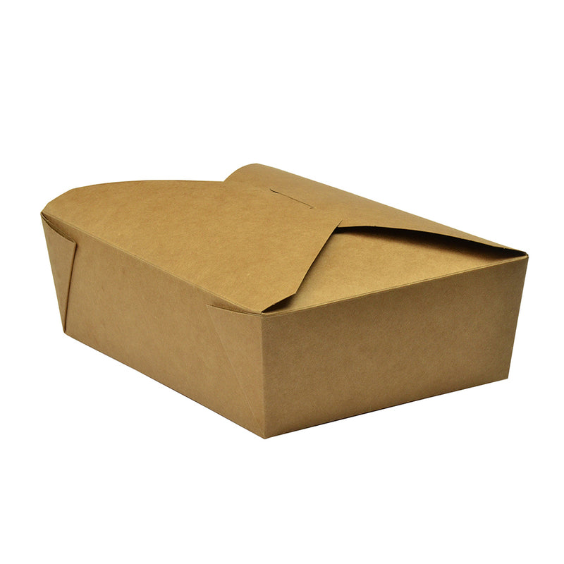 No.3 food carton 1800ml (19.5 x 14 x 6.5cm) - kraft