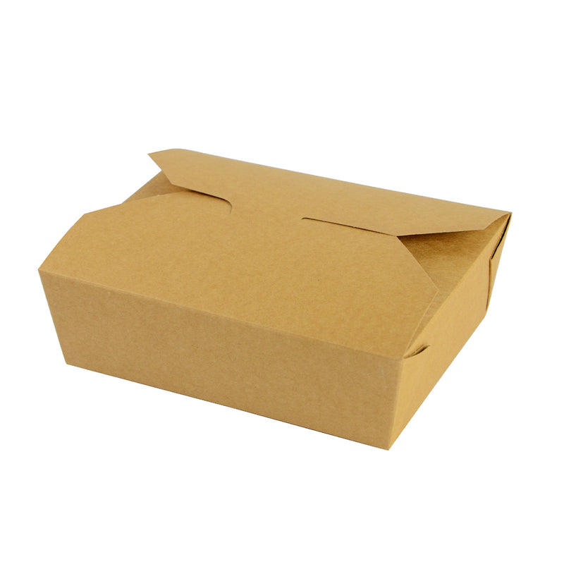 No.5 food carton 1050ml (15.2 x 12.1 x 5cm) - kraft