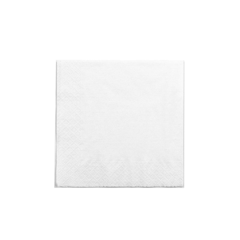 Cocktail 24 x 24cm Napkins 2 ply - white