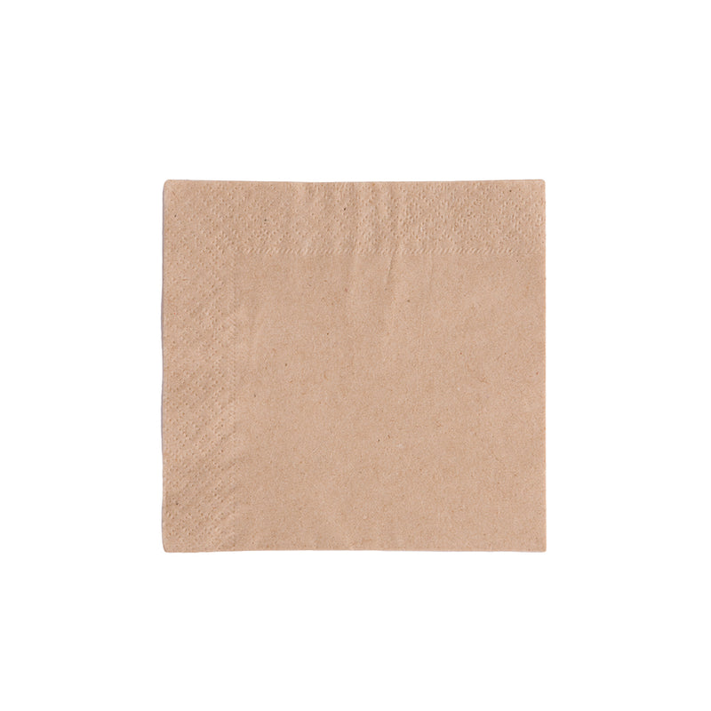 Cocktail 24 x 24cm Napkins 2 ply - kraft