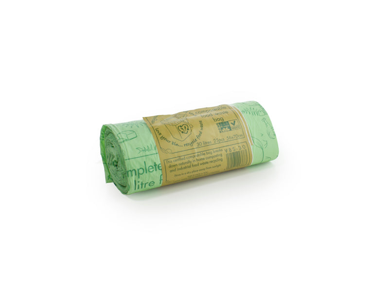 Compostable sack 30 litre, 25 per roll