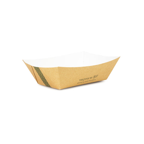 Size 100 - 15 x 11 x 4cm kraft food tray