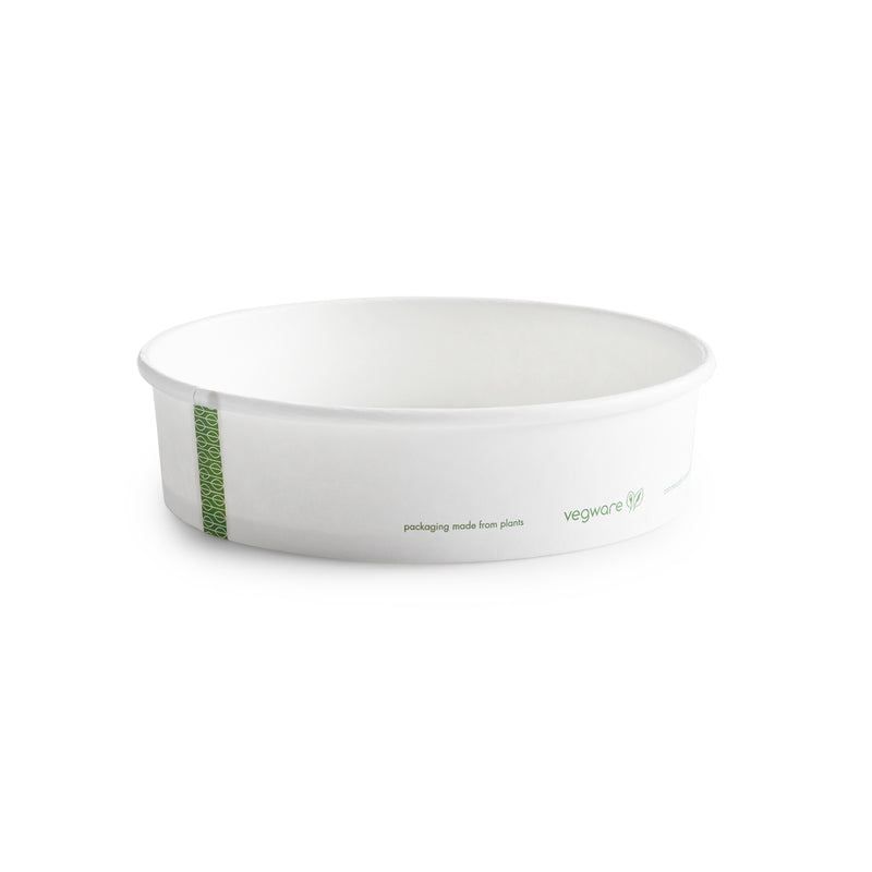 26oz (770ml) PLA-lined paper bowl - hot food - 185 series - white