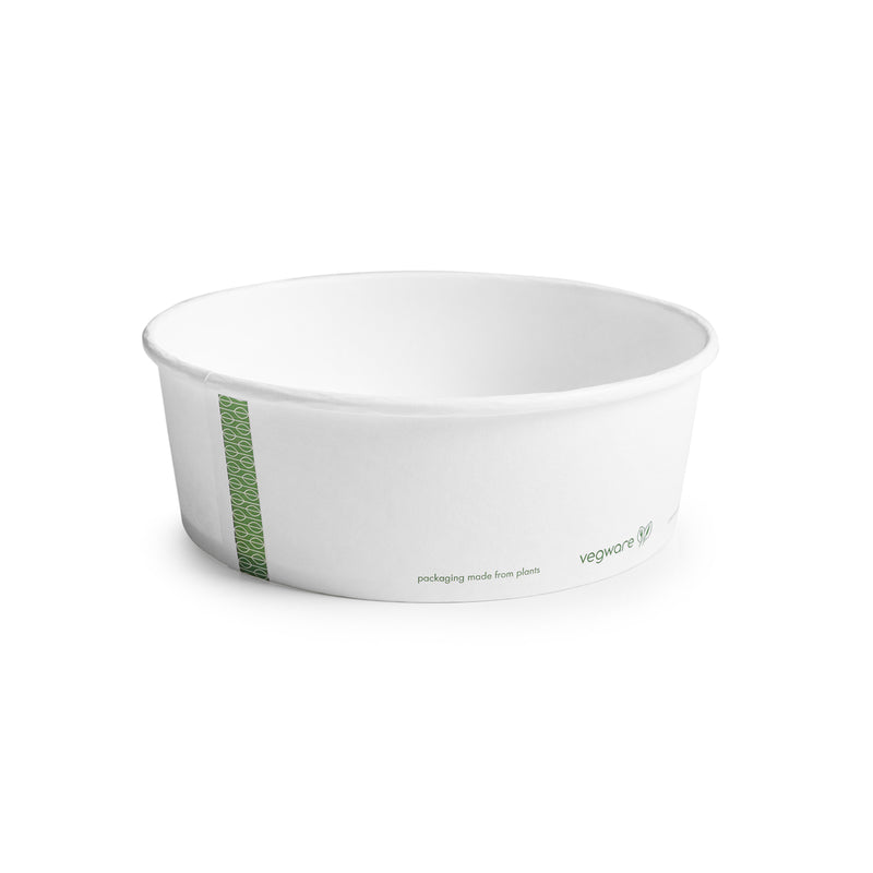 32oz (1000ml) PLA-lined paper bowl - hot food - 185 series - white
