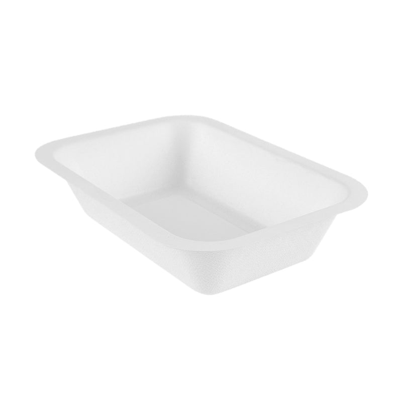 12oz (360ml) bagasse base - white - fits V3 lids