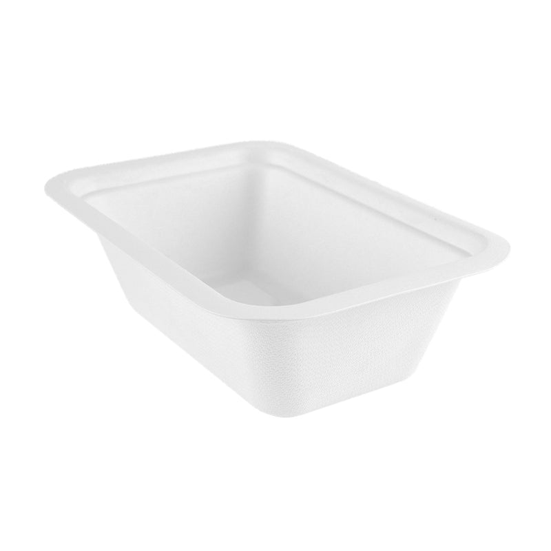 22oz (650ml) bagasse base - white - fits V3 lids