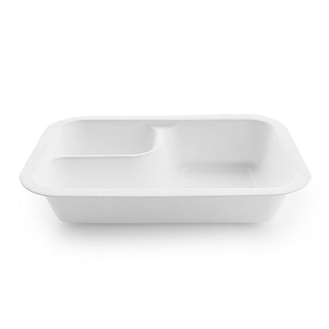 12oz (360ml) bagasse base feat. dipping corner  - white - fits V3 lids