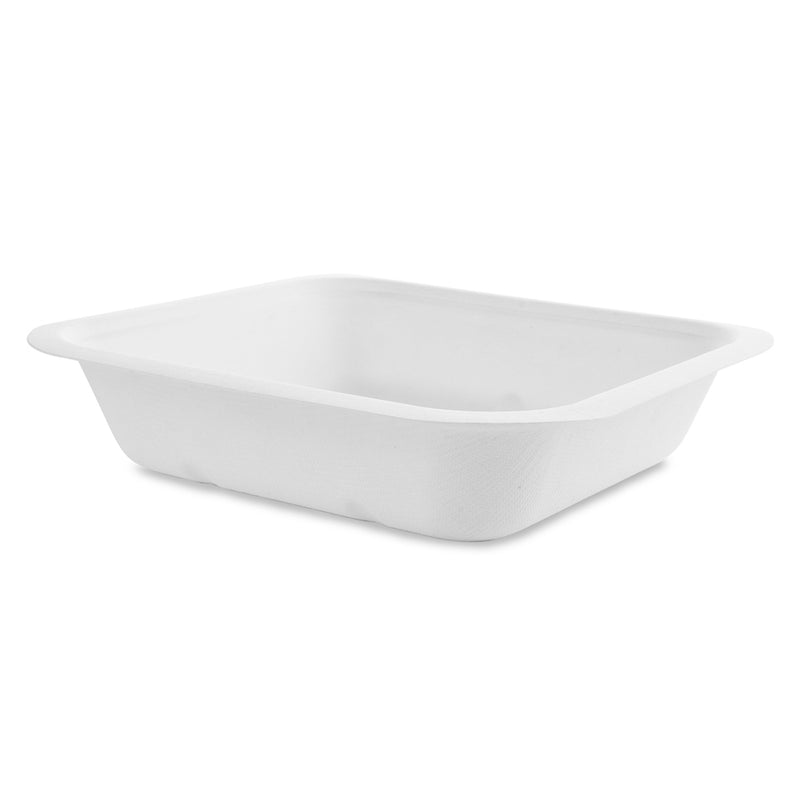 22oz (650ml) bagasse base - white - fits V4 lids