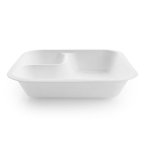 18oz (550ml) bagasse base feat. dipping corner - white - fits V4 lids