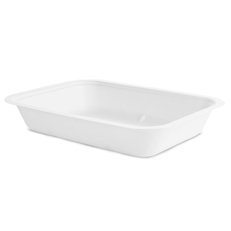 42oz (1200ml)  bagasse base - white - fits V5 lids