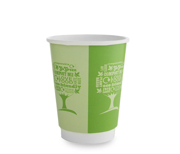 12oz (360ml) Green Tree Premium Double Wall Coffee Cup - 89 series