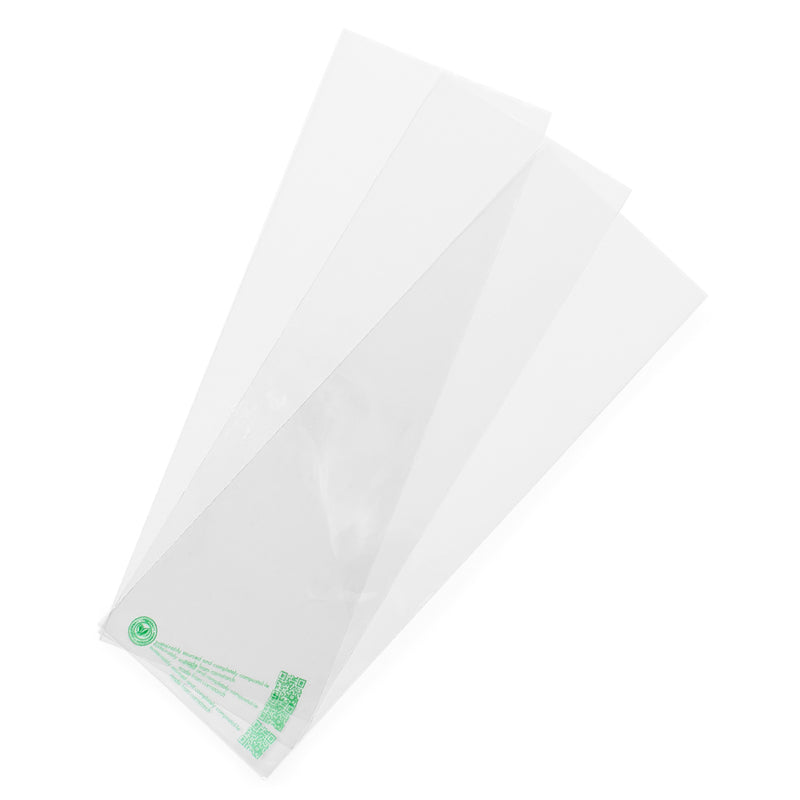 PLA window bag 12 x 35cm - clear