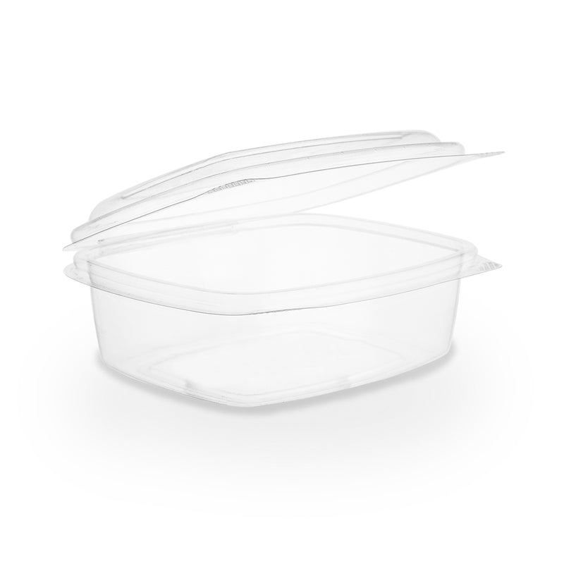 12oz (360ml) Rectangular hinged container - clear