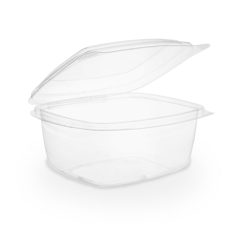 16oz (500ml) Rectangular hinged container - clear