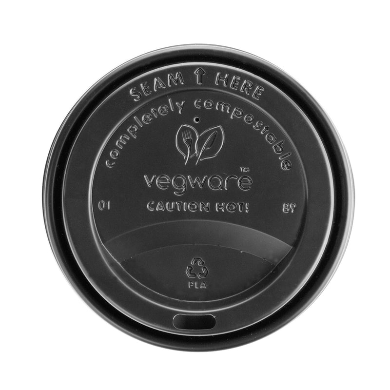 Large coffee cup lid - black - 89 Series